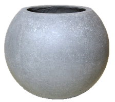 Cementkruka boll D30cm H25cm 2/fp