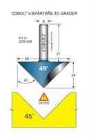 V-spårfräs 45° L=24 D=48 S=8