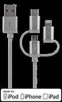 Kabel USB Multi - Lightning/Micro/USB-C