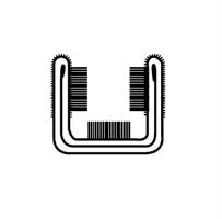 Vindusglidelist 15x14,5 mm sort - Løpemeter