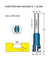 HM Kvistfräs D=15 TL=73 S=8