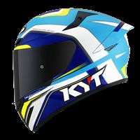 KYT TT-COURSE - Grand Prix White/Light Blue