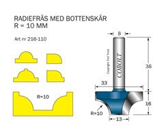 Radiefräs R=10 L=16 S=8