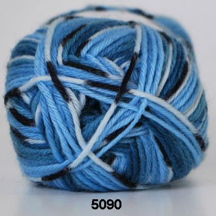 Kinna Textil Basic blå print