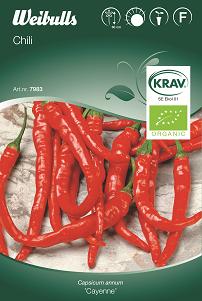 Chilipeppar 'Cayenne' Krav Organic