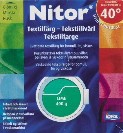 TEXTILFÄRG LIME 17 NITOR