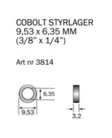 Kullager 9,53 x 6,35 mm (3/8