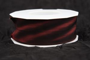 Band 40 mm 25 m/r m röd taft lyon med tråd