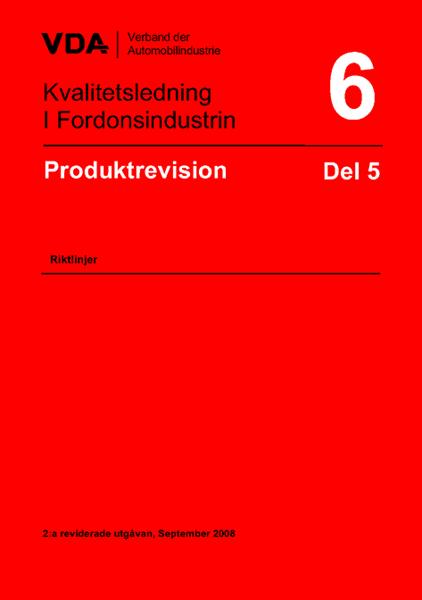 Produktrevision VDA 6.5
