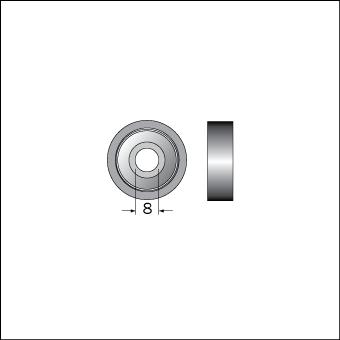 Styrlager 8mm innerdiameter