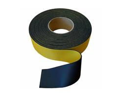 Gummistrips 100x3 mm sort m.lim SBR/NR - Løpemeter