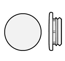 Karmplugg 14 mm Transparent - 16 stk