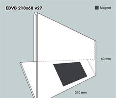 Etiketthållare EBVB 210-60F vinklad 27°