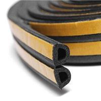 D-profil 8x8 mm EPDM sort dobbel - Løpemeter
