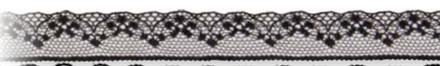 Band 18 mm 18 m/r spets svart