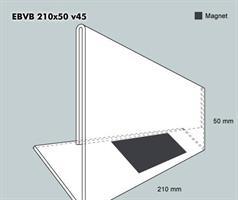 Etiketthållare. EBVB 210-50F vinklad 45°