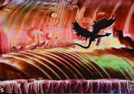 dragon flying right