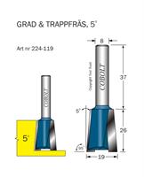 Trappfräs 5° D=19 L=26 TL=63 S=8