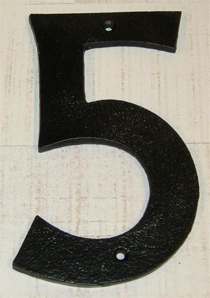 "FASADSIFFRA ""5"" GJUTJÄRN"