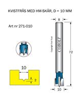 HM Kvistfräs D=10 TL=72 S=8