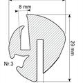 Klemprofil 8+3 EPDM sort Veritas - Løpemeter