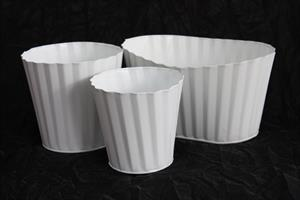 Cupcake Plåtkruka/skål vit olika storlekar