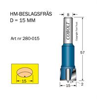 HM Beslagsfräs D=15 TL=57 S=8