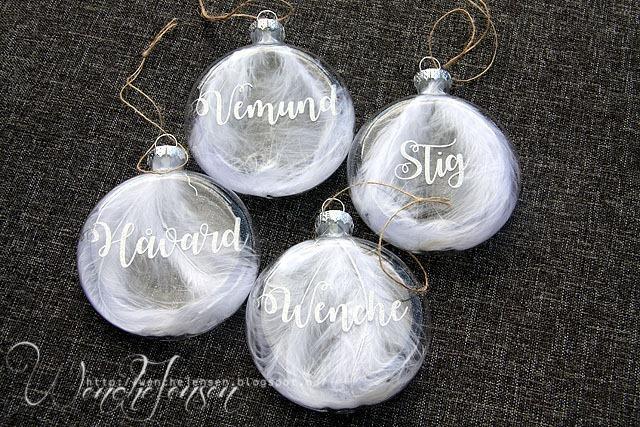 Julekuler med navn