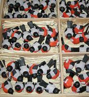 FÅGLAR i låda  144 röda