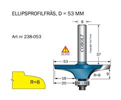 Ellipsprofilfräs R=8 L=15 D=53 S=8