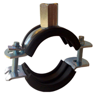 Rørklammer 32-35 mm med dempegummi, 2 stk