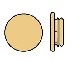 Karmplugg 14 mm Beige - 16 stk