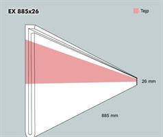 Etiketth. EX 885-26F rak tejp