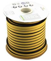 E-profil tetningslist 9x8 mm sort EPDM - 75 meter