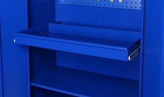 Utdragbar låda till förvaringsskåp Björn 1800x800x400 blå