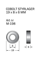 M-198 Kullager 19 x 8 x 6 mm