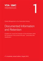 VDA Vol 1 Dokumentation och arkivering ENG