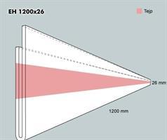 Etiketth. EH 1200-26F rak tejp