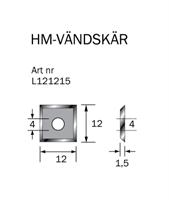 HM-vändskär 12x12x1,5 mm