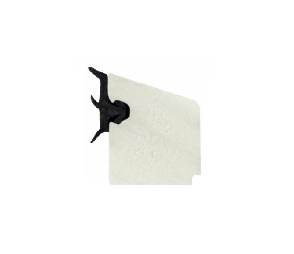 PVC glasslist 13x17 mm hvit m/tettelist - 200 cm