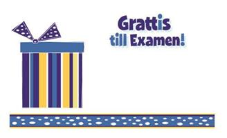 Kort Grattis till examen 100/fp