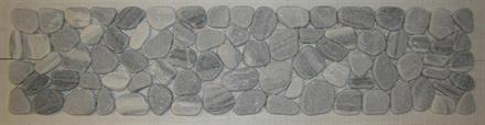 MARMORLÖPARE 14x60cm grå