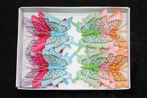 Fjäril mix 8cm 24/fp
