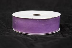 Band 25 mm 25 m/r organza lila
