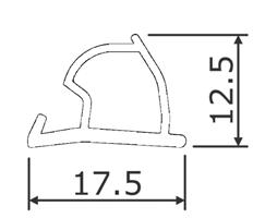 Dør/vindusprofil 6354 Hvit - Løpemeter