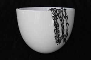 Ampel keramik vit D18cm 4/fp
