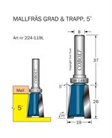 Trappfräs 5° m kullager M-148