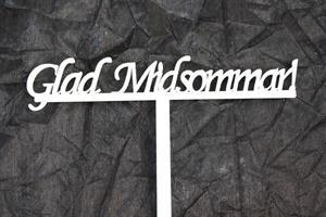Glad Midsommar skylt stående 25/fp
