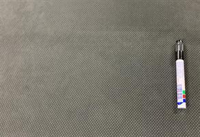 Tyg Mocka-stil mörkgrå perforerad 2 mm lam
