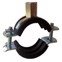 Rørklammer 108-114 mm med dempegummi, 2 stk